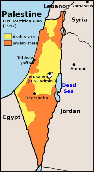 1947 UN Partition Plan for Palestine